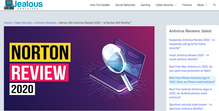 Norton Antivirus Evaluate 2020